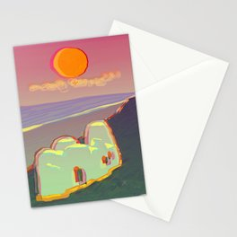 Red Moon Summer Vibrations Stationery Cards