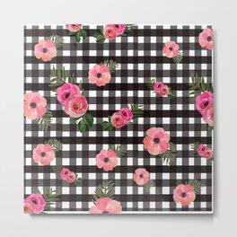Bingham+Floral Metal Print