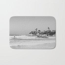 Wavy San Diego Beach Panorama Bath Mat