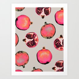 Pomegranate Pattern Art Print