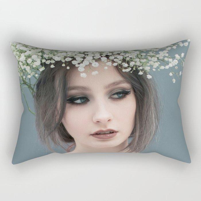 Floral portrait Rectangular Pillow