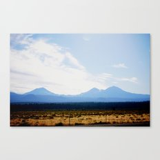 Out West, Three Sisters Canvas Print