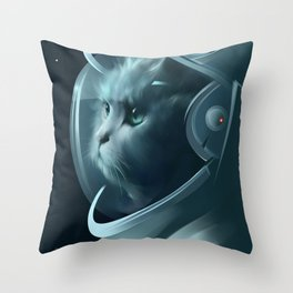 Cat Mission Throw Pillow