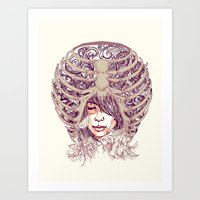 huebucket Art Prints featuring Your Bone by Huebucket