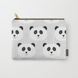 Panda Love Gray Carry-All Pouch