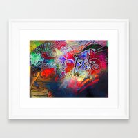 into the wild Framed Art Prints featuring wild by KrisLeov