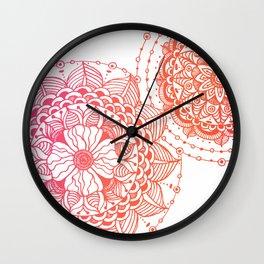 Sunset Mandalas Wall Clock