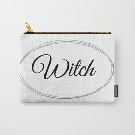 Witch Graphic Design| Minimalistic Art | Witch Art| White Witch Carry-All Pouch