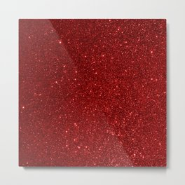 Garnet January Aquarius Birthstone Shimmering Glitter Metal Print