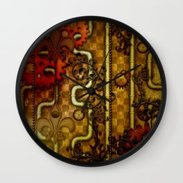 Noble Steampunk design, clocks and gears Wall Clock