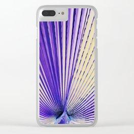 Art Palm Leaf Clear iPhone Case