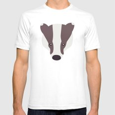 Badger nº5 Mens Fitted Tee White SMALL