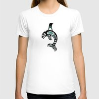 killer whale T-shirts featuring Blue and Black Haida Spirit Killer Whale by Jeff Bartels