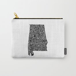 Typographic Alabama Carry-All Pouch