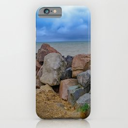 Stormy coast iPhone Case