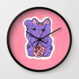 Manekineko 2 Wall Clock