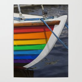 RAINBOW SAILBOAT Poster
