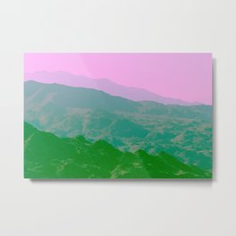 Palm Springs Mountains IV Metal Print