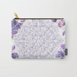 Mandala Rose Garden Lavender Purple Violet Carry-All Pouch