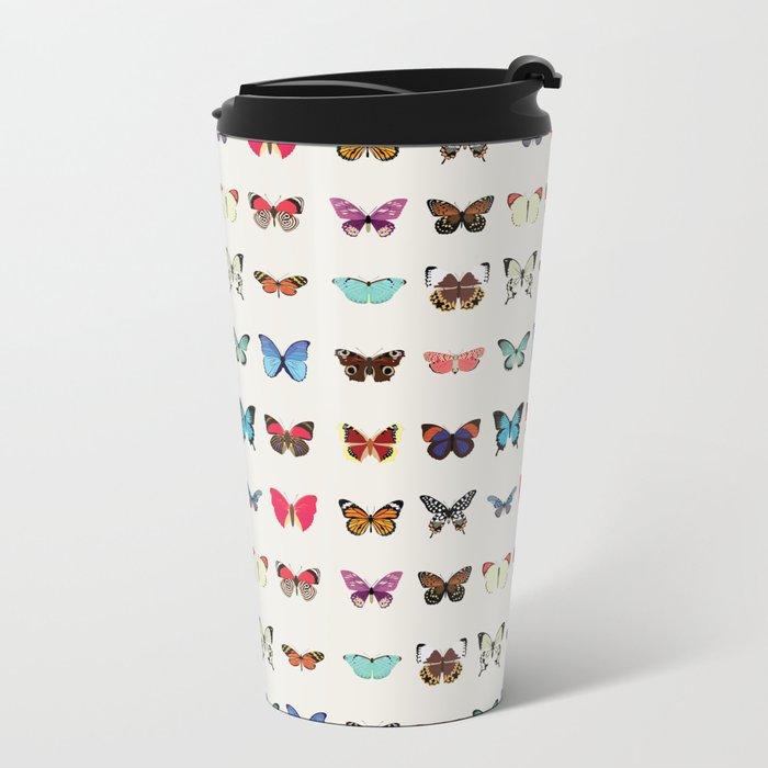 Butterflies Metal Travel Mug