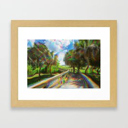 Trippy Walkway Framed Art Print