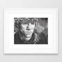 sam winchester Framed Art Prints featuring Sam Winchester by Kristy Fleming