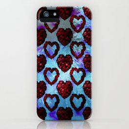 Gothic Rose Petal Hearts iPhone Case