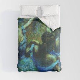 Blue Dancers by Edgar Degas Comforters