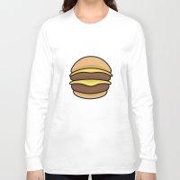 burger Long Sleeve T-shirts featuring BURGER by KODYMASON