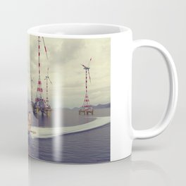Ekranofoil freighter and 40MW turbine park Coffee Mug