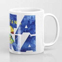 Montana Typographic Flag Map Art Coffee Mug