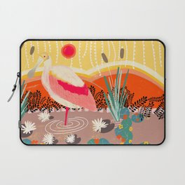 Roseate Spoonbill in the Sunset Laptop Sleeve