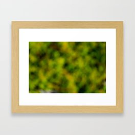 Natural Bokeh Camo Framed Art Print