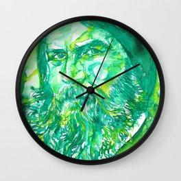 GRIGORI RASPUTIN - watercolor portrait.2 Wall Clock