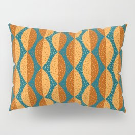 Mod Leaves 2 in Terracotta, Mustard and Teal Pillow Sham