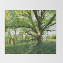To Swing On The Tree Of Hope Throw Blanket