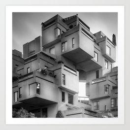 Habitat 67 08 - Mid Century Architecture Art Print