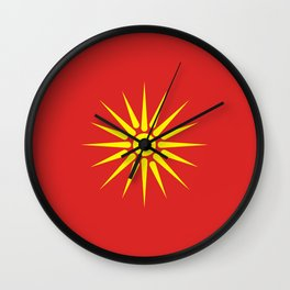 old Macedonia country flag Wall Clock
