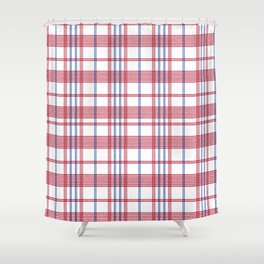 Hong Kong Red White Blue Bag Shower Curtain