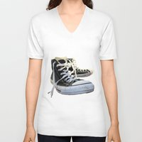 converse V-neck T-shirts featuring Converse by Jake Fishkind