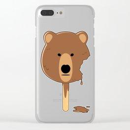 Bear Ice Cream Clear iPhone Case
