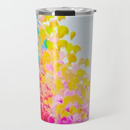 CREATION IN COLOR - Vibrant Bright Bold Colorful Abstract Painting Cheerful Fun Ocean Autumn Waves Travel Mug