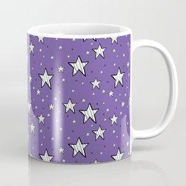 stars on purple background Coffee Mug