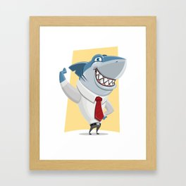 Well Dressed Shark Artwork Framed Art Print