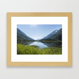 Alaska Summer Light on Tern Lake Framed Art Print