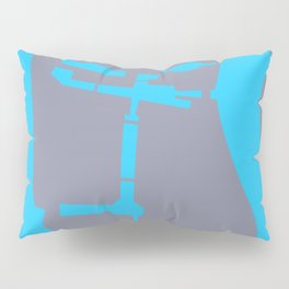 canary wharf, london map travel poster Pillow Sham