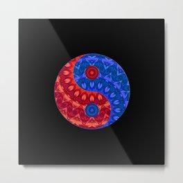 red blue ying yang Metal Print