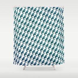Sea Horse Pattern Shower Curtain