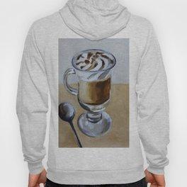 Coffee latte, original oil painting, art Hoody