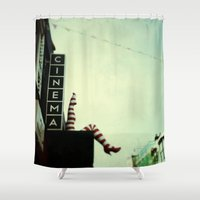 cinema Shower Curtains featuring Cinema by Cassia Beck